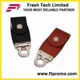 Nova unidade de flash estilo estilo couro USB