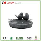 Figurines del Birdbath degli uccelli del giardino di Polyresin per la decorazione esterna