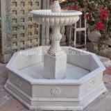 Pequeña fuente de la decoración de mármol blanca hermosa del jardín
