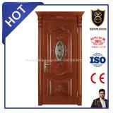 Portes en bois internes en bois solides de luxe de la Chine des prix de porte