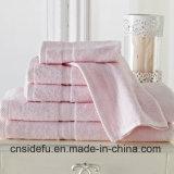 安い卸し売り優秀な耐久性のホテルタオルの一定のドビーによって染められるタオル