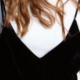 Vestito sottile sexy da slittamento della fasciatura della fessura del V-Collo del velluto delle donne di modo