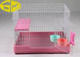 La difficoltà dei prodotti dell'animale domestico sull'animale domestico di plastica della gabbia lancia alimentatori