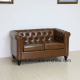 (SP-KS316) Античная мебель трактира обедая кожа и таблица софы