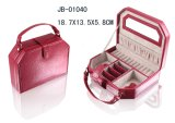 De lujo de cuero rojo de la caja de joyería de la serie de la PU