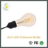 Estilo da ampola E26/E27 A60 Edison do diodo emissor de luz de Stoele A19 5W