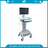 건전지 고도 조정가능한 의학 트롤리를 가진 AG Wt002b