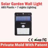 Luz ao ar livre da parede leve ao ar livre solar do cubo do diodo emissor de luz com temporizador