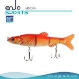 セクションSwimbaitの5つの魅惑の多重セクション接合されたリアルなプラスチック釣り道具釣魅惑(MS0316)