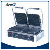 Par exemple gril simple électrique de Panini de plaque de l'acier inoxydable 811