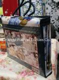 Folha ajustada estofando poli/do fundamento moderno da colcha da tela material do algodão de base