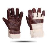 Handschoenen van het Lassen van het Leer van de Koe van de Handschoenen van het leer de Werkende Gespleten