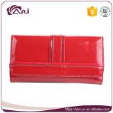 Бумажник способа Fani длинний тонкий кожаный для женщин повелительниц