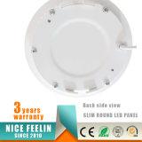 luz del panel redonda de 3W 6W 9W 12W 15W 18W 24W LED con la garantía 3years