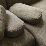 Sofá nórdico moderno da tela do sofá do canto da sala de visitas da mobília
