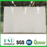 Partie supérieure du comptoir de marbre artificielle blanche de pierre de quartz de Carrare