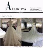 Prinzessin weg vom Weiß/Champagne-Hochzeits-Kleid mit der 3 Meter-Serie