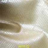 PU brillante del sintético Foxing el cuero para las sandalias del `S de la señora