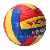 Voleibol al aire libre del arco iris del PVC de la vejiga del caucho de la talla estándar 5 de la muestra libre de Wholeslae