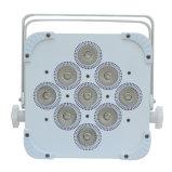 Color plano sin hilos de la luz 9 X 15W RGBWA 5in1 de la IGUALDAD de DMX LED que mezcla IP20 no impermeable ninguna batería