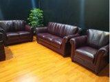 Sofá de couro moderno da mobília do sofá da sala de visitas