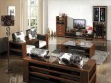 Conjuntos de madera de lujo antiguos al por mayor calientes de los muebles de la sala de estar del vector de cena (HX-LS006)