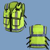 Chalecos reflexivos de la seguridad del desgaste de la venta de la alta policía caliente de la manera