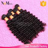 100%の加工されていなく深い織り方のブラジルの毛の方法毛の鉄