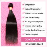 Agradáveis extensões de cabelo humano de qualidade / Straight Weave Bundles Virgin Indian Hair