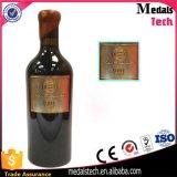 Contrassegno d'argento antico su ordinazione inciso del metallo della bottiglia di vino della targhetta del metallo