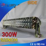 Luz del coche del LED de la barra caliente de las ventas del CREE máximo de 52inch 300W para el jeep del carro