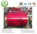 Action en acier galvanisée enduite d'une première couche de peinture de bobine