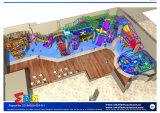 Equipo submarino del patio con la combinación de la diapositiva