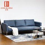 優雅な濃紺の家具の居間の革ソファー様式のイタリア語