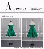 Vestido de noite curto verde elegante do casamento da dama de honra