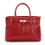 여자 에나멜 가죽 핸드백 상단 손잡이 어깨 운반물 핸드백
