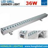 Diodo emissor de luz impermeável linear DMX ao ar livre Wallwasher da lavagem 30W RGB da parede da ponte 1000mm do edifício