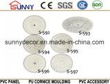 Médaillons de plafond d'unité centrale/moulage décoratif de corniche de médaillon/polyuréthane de plafond