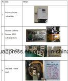 A imprensa mecânica 80ton do C com Ompi italiano seca a embreagem, pressiona a máquina com rolamentos de Japão NSK, morre a imprensa do selo, alimentador da bobina