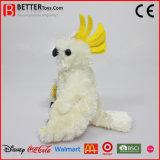 Cockatiel mou bourré réaliste de jouet de peluche de perroquet d'oiseau