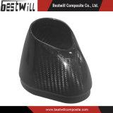 Protezione di estremità del sistema di scarico del motociclo della fibra del carbonio della saia 3k