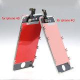Экран касания низкой цены для индикации iPhone 4 4s LCD с рамками