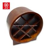 Cremalheira de madeira do vinho do frasco da forma 9 do barco para a mobília Home