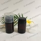 بلاستيكيّة كهرمانيّة محبوب زجاجة مع مسحوق غطاء لأنّ [سكين كر] يعبّئ ([بّك-بب-065])