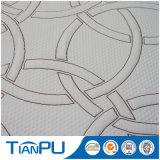 Tela 100% del telar jacquar del modelo del círculo del poliester de la fábrica de China para el protector del colchón