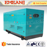 комплект генератора звукоизоляционного Water-Cooled Китая поставщика 100kw тепловозный