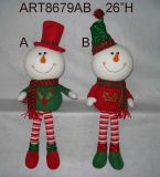 Dangle Legged Navidad Decoración Self-Sitter Decoración-3assorted