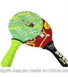 Het embleem en het Ontwerp kunnen de Aangepaste Racket van het Tennis van het Strand van de Populier zijn