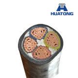 Cu/XLPE/Cts/PVC/Swa/PVC, cable de transmisión, 19/33 kilovoltio, 3/C (BS 6622)