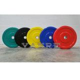 Plaat van Barbell van de Platen van de Bumper van het Gewichtheffen van de Kleur van Crossfit van de Apparatuur van de Geschiktheid van de gymnastiek de Rubber Met een laag bedekte